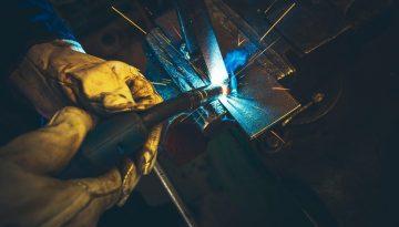 Electric Metal Welding Closeup